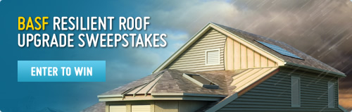 Enter the sweepstakes to win BASF resilient roof upgrade