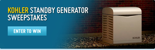 Enter the sweepstakes to win a KOHLER standby generator
