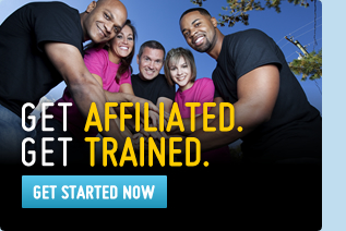 Get Affiliated, Get Trained button