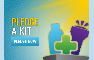 Pledge a Kit button