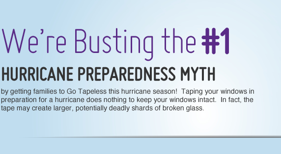 We're busting the #1 hurricane preparedness myth by getting families to Go Tapeless this hurricane season